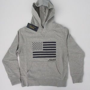 Ralph Lauren Hooded US Flag Pullover Sweatshirt